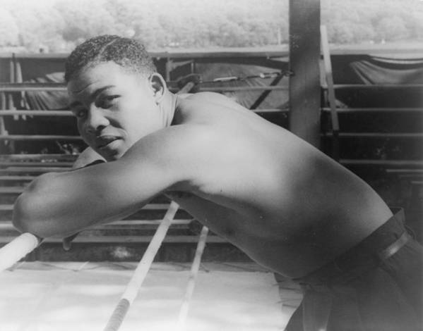 1940s Portraits Art Print featuring the photograph Joe Louis, At Greenwood Lake N.y by Everett
