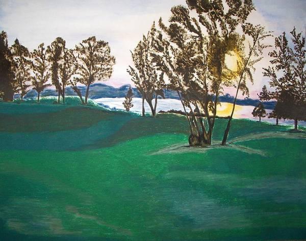 Lake Art Print featuring the painting Lake Sullivan by Sanchia Fernandes