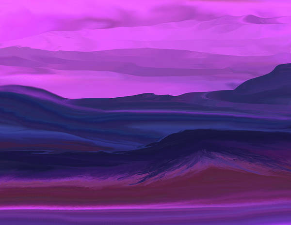 Fine Art Art Print featuring the digital art Landscape 022011 by David Lane