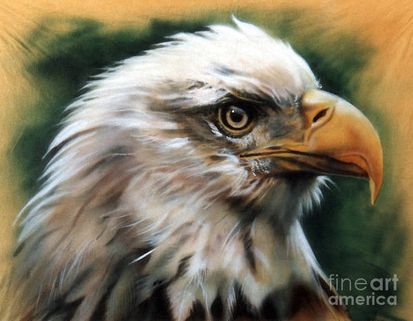Southwest Art Art Print featuring the painting Leather Eagle by J W Baker
