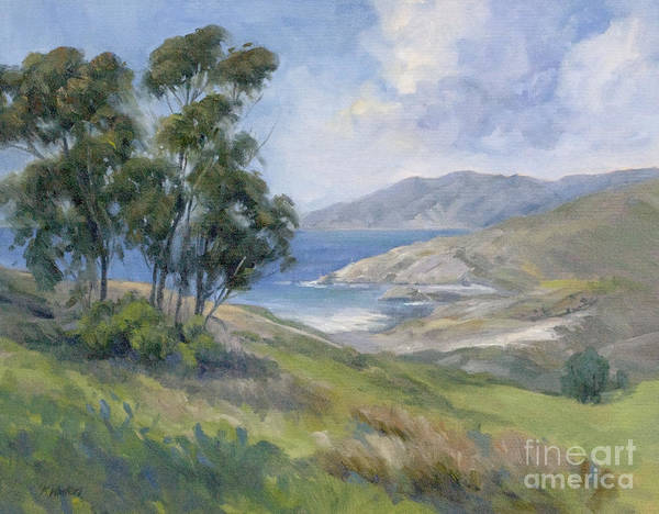 Catalina Art Print featuring the painting Little Harbor - Catalina Island Painting by Karen Winters