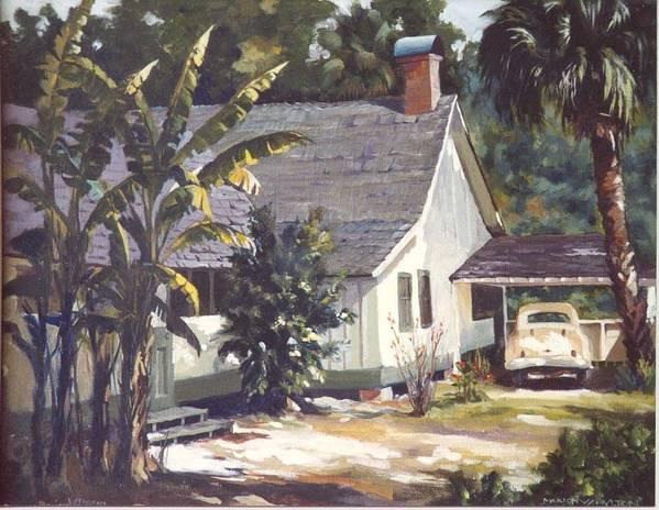 House Art Print featuring the painting M. K. Rawlings House by Marion Hylton
