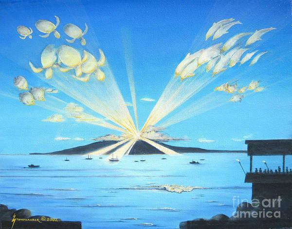 Maui Art Print featuring the painting Maui Magic by Jerome Stumphauzer