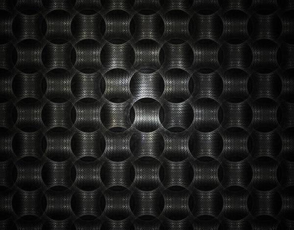 Fractal Art Print featuring the digital art Metallic Weave by David April