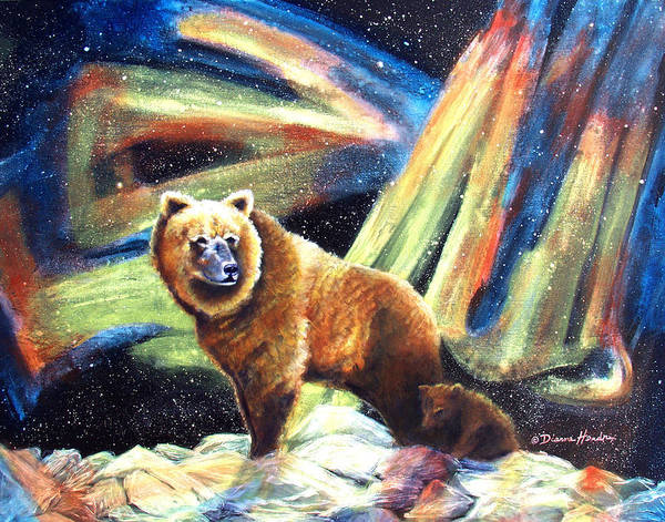 Alaska Art Print featuring the painting Mischief's Mother by Dianne Roberson