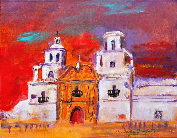 Mission Art Print featuring the painting Mission Impression II by M Diane Bonaparte