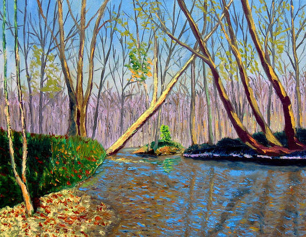 Landscape Art Print featuring the painting Mooresville 11 2 by Stan Hamilton