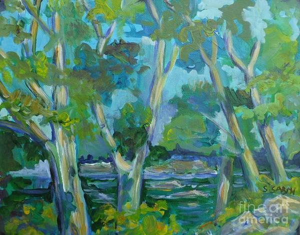 Moira Art Print featuring the painting Moria River At Belleville by Saga Sabin