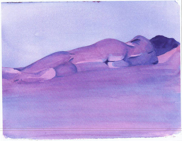Nude Female Reclining Art Print featuring the painting Morning by Ken Daugherty