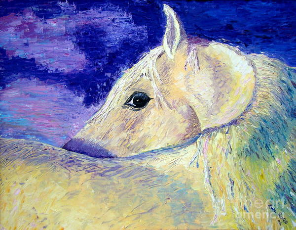 Horse Art Print featuring the painting My Promus by Lisa Rose Musselwhite