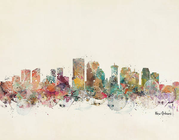New Orleans Louisiana Art Print featuring the painting New Orleans by Bri Buckley