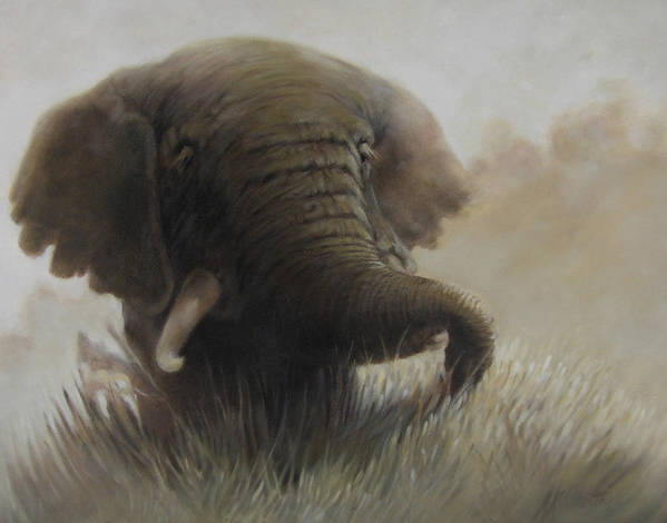Elephant Art Print featuring the painting Nogoro Ngoro Elephant by Patrick McClintock