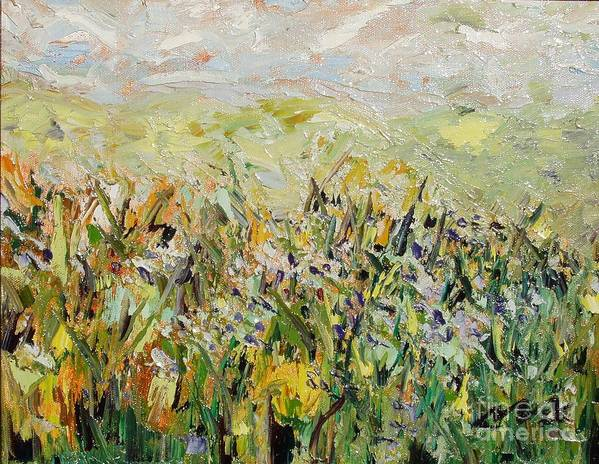 Field Paintings Art Print featuring the painting Nose Hill by Seon-Jeong Kim