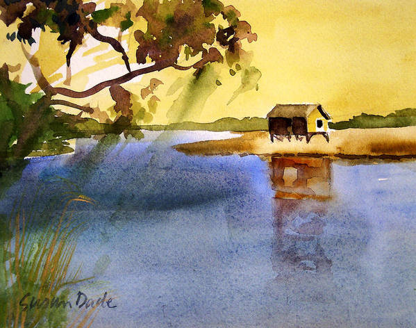 Water Art Print featuring the painting On The Marsh by Susan Dade