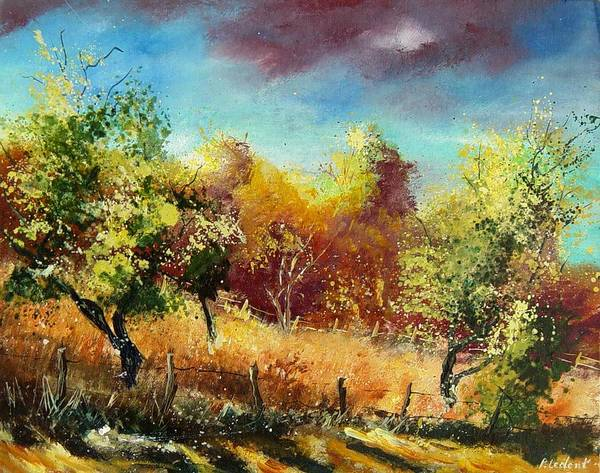 Flowers Art Print featuring the painting Orchard by Pol Ledent