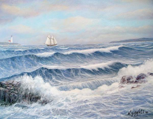 Seascape Art Print featuring the painting Outward Bound by William H RaVell III