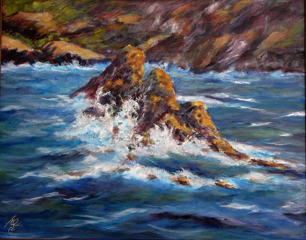 Sea Coast Art Print featuring the painting Pacific Coast by Thomas Restifo
