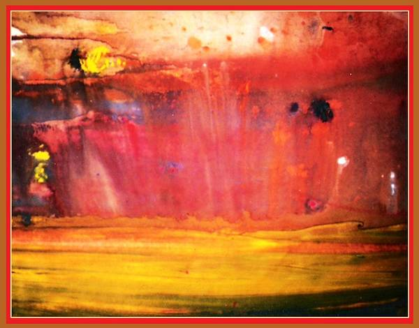 Flames Art Print featuring the painting Paint Series 41 by Gabe Art Inc