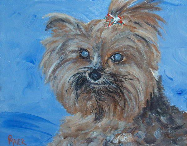 Dog Art Print featuring the painting Pepper by Pete Maier