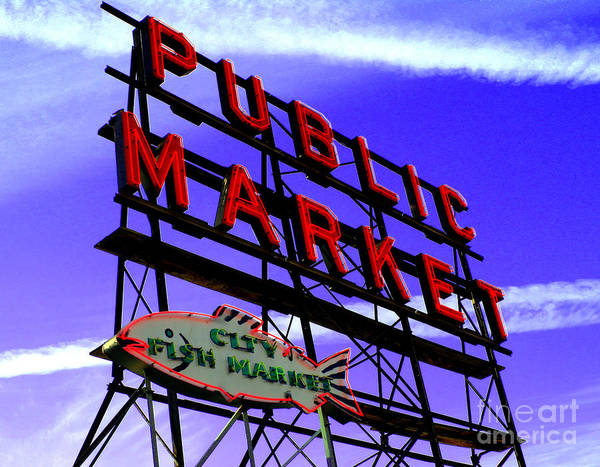 Pike's Place Market Art Print featuring the photograph Pike's Place Market by Nick Gustafson
