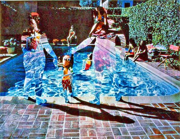 Pool Art Print featuring the photograph Pool Party Sold by Randy Sprout