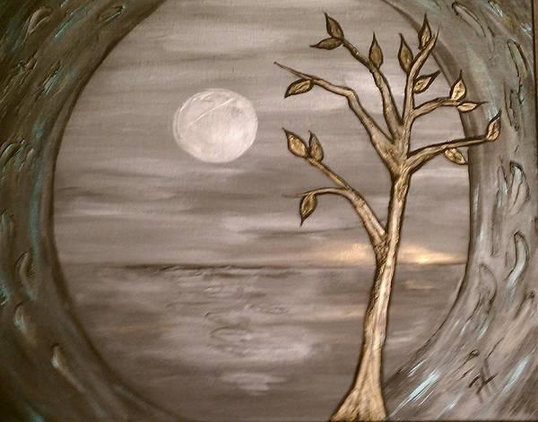 Metallic Art Print featuring the painting Portal by Patti Spires Hamilton