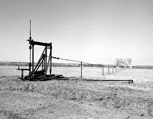 Oil Field Art Print featuring the photograph Pumping Oil by Larry Keahey