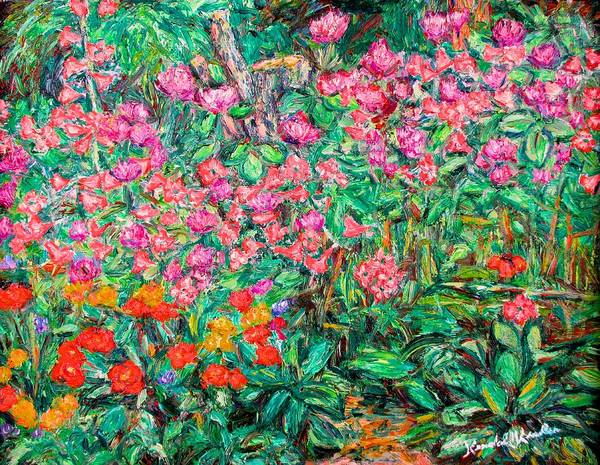 Kendall Kessler Art Print featuring the painting Radford Flower Garden by Kendall Kessler