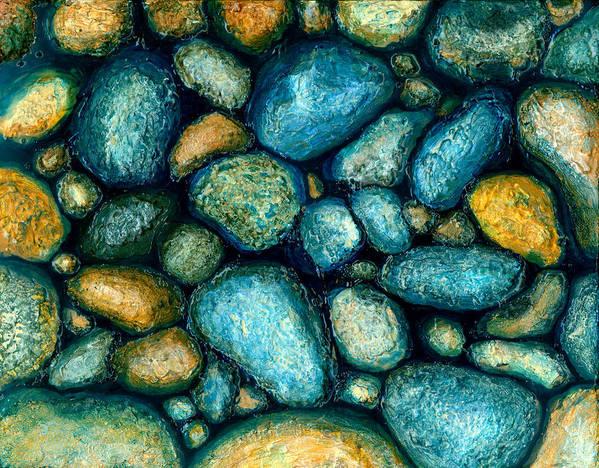 Rock Art Print featuring the painting Rocks by Julia Collard