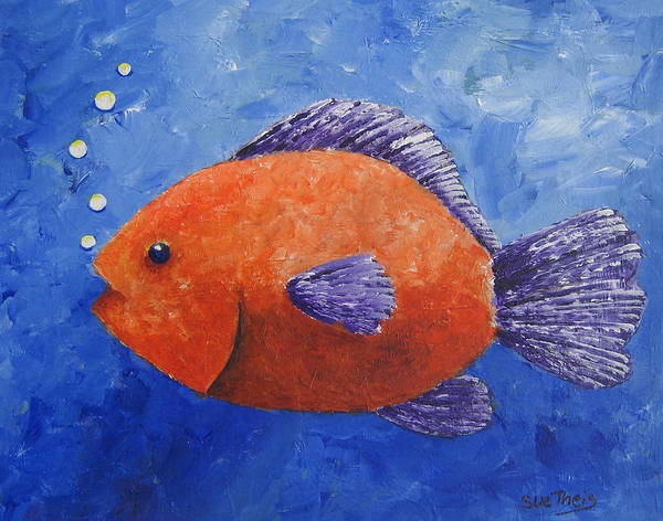 Fish Art Print featuring the painting Sammy by Suzanne Theis