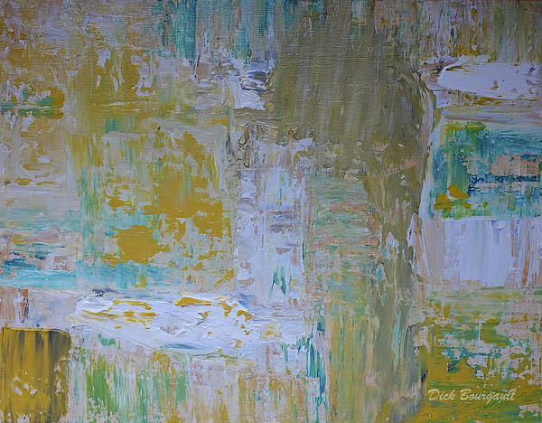 Abstract Art Print featuring the painting Sanctuary by Dick Bourgault