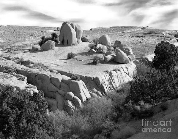 Original Art Print featuring the photograph Sandstone Plateau by Christian Slanec