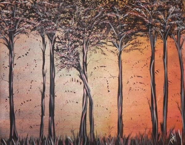 Silhouette Art Print featuring the painting Seasons Of Change by Patti Spires Hamilton