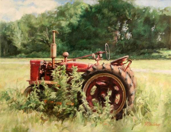Tractor Art Print featuring the painting Seen Better Days by Robert Tutsky