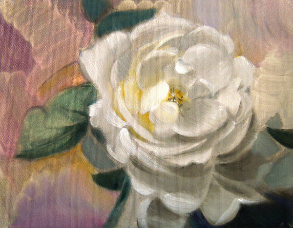 Floral Roses Art Print featuring the painting Single Rose by Patrick McClintock
