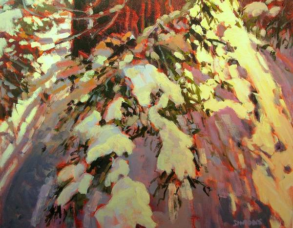 Snow Paintings Art Print featuring the painting Snow Shadow by Brian Simons