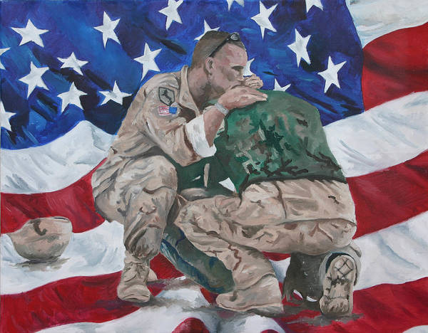 Soldiers Art Print featuring the painting Soldiers by Travis Day
