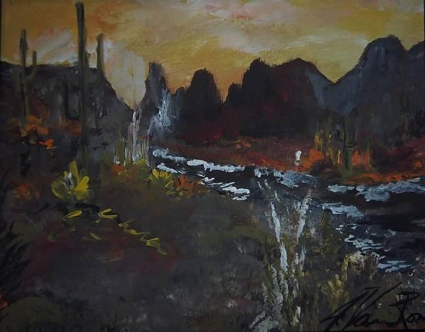 Art Print featuring the painting Southwest Splendor by Jim Van Romer