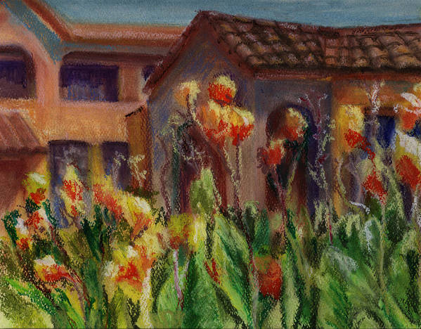 House Art Print featuring the painting Spanish Abode by Patricia Halstead