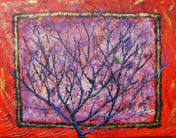 Nature Art Print featuring the painting Spirit Tree 6 by Tami Booher