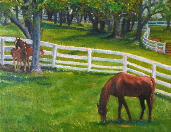 Equine Art Print featuring the painting Springtime At Undulata by Stephanie Allison