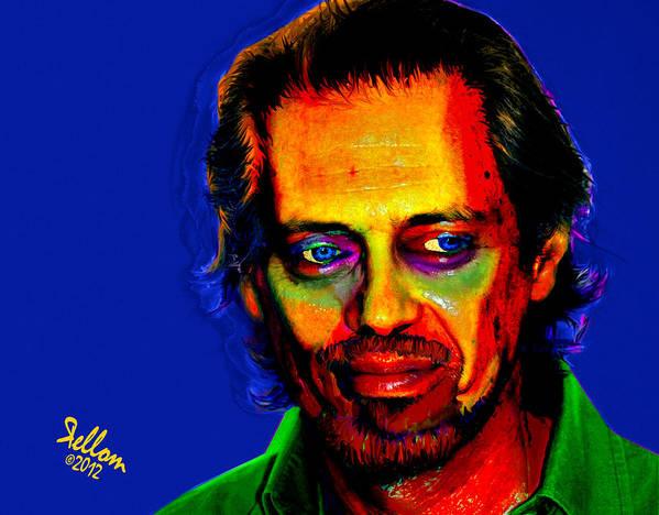 Pop Art Art Print featuring the digital art Steve Buscemi Pop Art by Che Moller