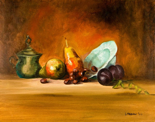 Still Life Art Print featuring the painting Still Life by Joni Herman