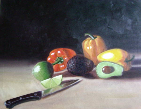 Art Print featuring the painting Still-life by Toni Berry
