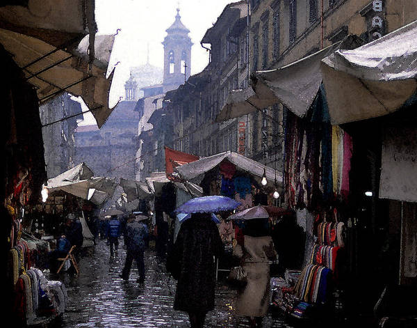 Cityscape Art Print featuring the photograph streetscene in Italy by Matthew Altenbach