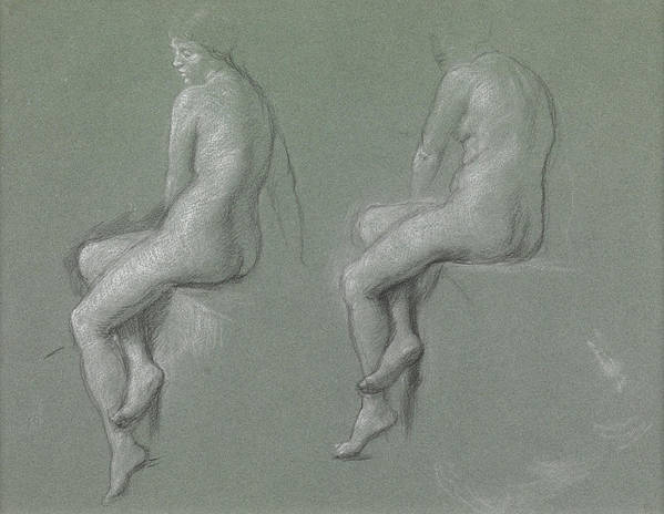 Nude Art Print featuring the drawing Studies Of The Nude by Sir Edward John Poynter