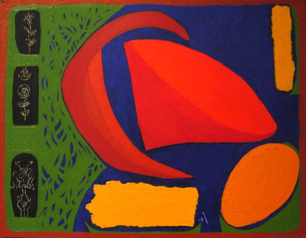 Irregular Forms; Abstract Art Print featuring the painting Studio Number 326 by Vijayan Kannampilly