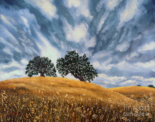 California Art Print featuring the painting Sudden Storm In May by Laura Iverson