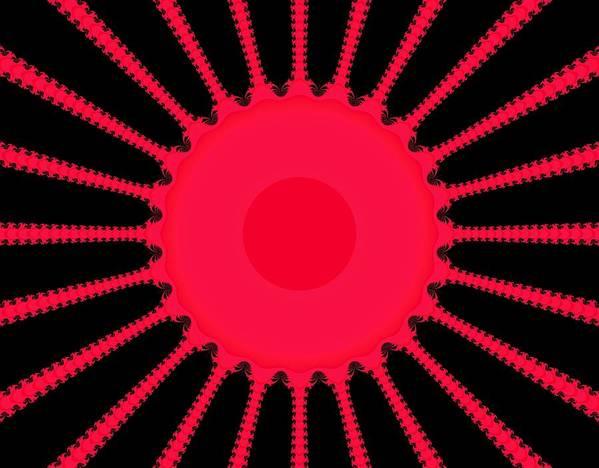 Digital Art Print featuring the digital art Sun Rays by Thomas Smith