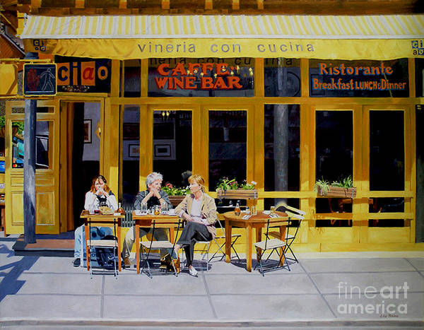 Greenwich Village Art Print featuring the digital art Sunny Side Of Bleecker by Lou Spina